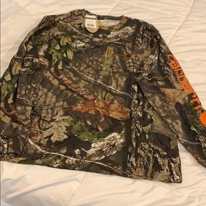 NWT Lg Carhartt Long sleeved shirt camo